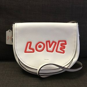 NWOT  COACH KEITH HARING - LEATHER CROSSBODY